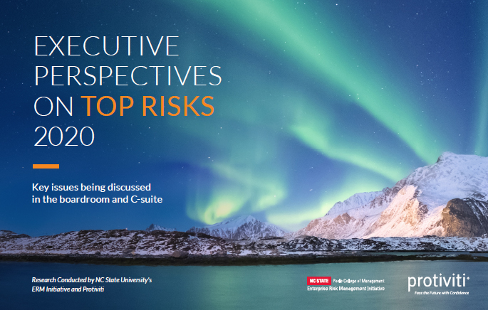 Top Risk Concerns for Business Leaders in 2020 Include Talent,  Culture, Technology and Innovation, Finds Protiviti-NC State Survey