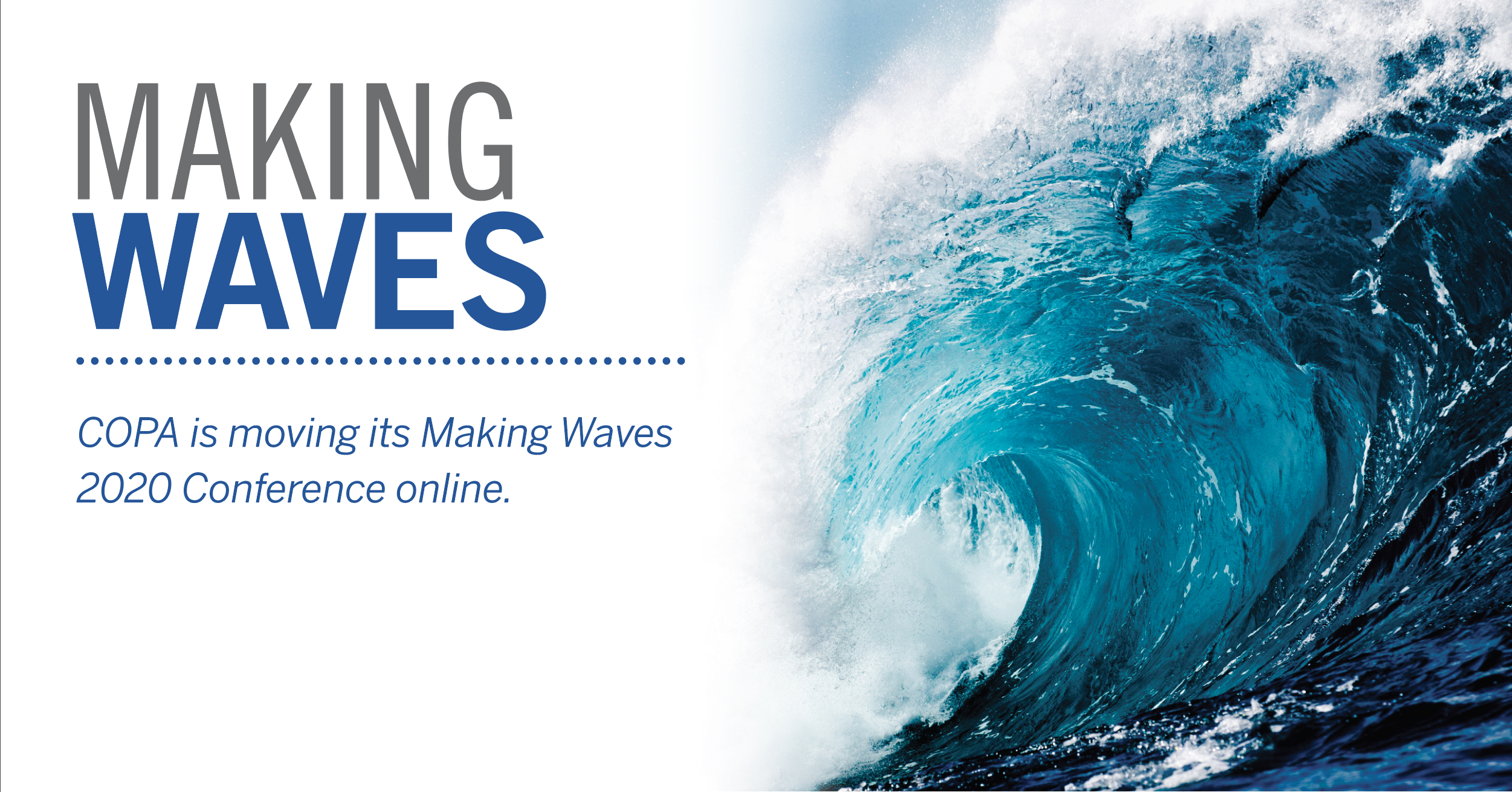 COPA's Making Waves 2020 Gets a Digital Makeover