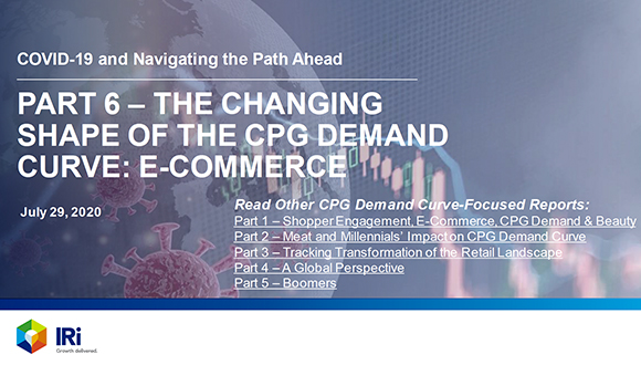 A New IRI report – The Changing Shape of the CPG Demand Curve: E-Commerce
