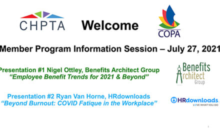 Employee Benefit Plan Trends, COVID Fatigue Addressed During CHPTA-COPA Information Session